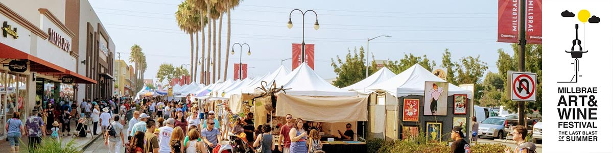 sponsorship and exhibitor opportunities at Millbrae Art & Wine Festival